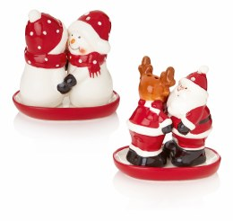 Christmas Santa or Snowman Salt and Pepper Set 7.5cm