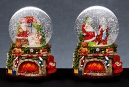 Christmas Snowglobe with Santa 9.5cm