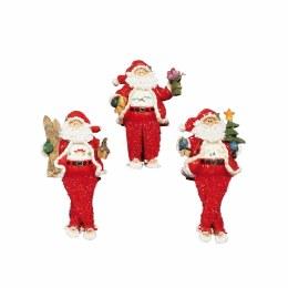 Christmas Plush Character Dangly Leg Santa Ornament 20cm