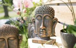 la Hacienda Buddha Head on Base Small