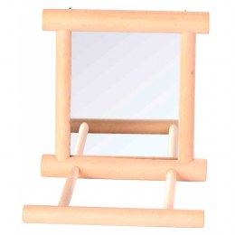 Trixie Mirror with Wooden Frame