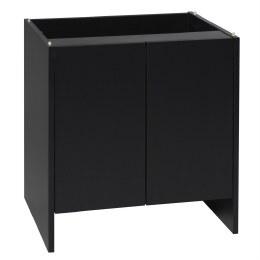 Monkfield Cabinet L122 x D46 x H66cm Black