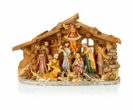 Christmas Nativity Crib with Porcelain Figures 48cm
