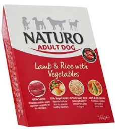 Naturo Adult Wet Lamb & Rice 150g