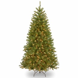 North Valley Spruce 7.5 Foot Pre-Lit Artificial Christmas Tree With 550 Warm White Lights