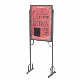 Christmas Count Down Sign Antique Iron Finish 156x60x38cm