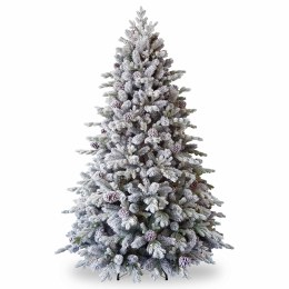 Misty Mountain 7.5 Foot Pre-Lit Artificial Christmas Tree with 600 Warm White LED Lights