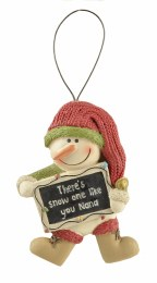 Christmas Sign Snowman With Sign 5x7.5cm