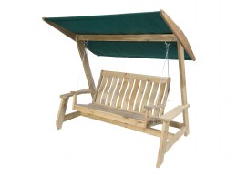Alexander Rose Swing Seat Pine With Ecru or Green Canopy
