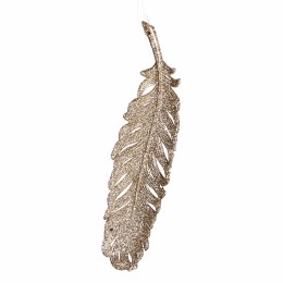 Christmas Decoration  Feather with Gliter 9cm