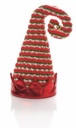 Christmas Elf Tree Top Hat Red Green 35cm