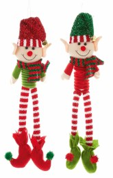 Elf with Long Legs Red or Green 50cm