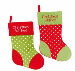 Christmas Stocking with Christmas Wishes 41cm