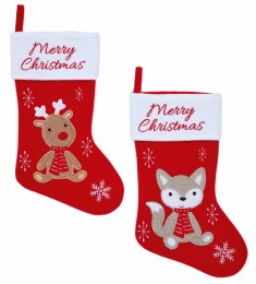 Merry Christmas Stocking Red 41cm