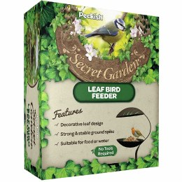 Peckish 80cm Secret Garden Leaf Bird Feeder