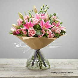 Pink Delight New Baby Hand-tied Extra Large