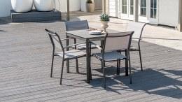 Alexander Rose Portofino Lite 4 Seater With Stone Table 80cm x 80cm
