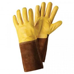 Premium Leather Gauntlet Gloves Large