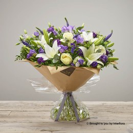 Purple Promise New Baby Hand-tied Extra Large