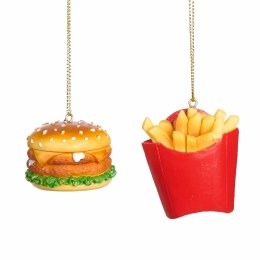 Christmas Hamburger and Fries Ornament with Hanger 5.5cm