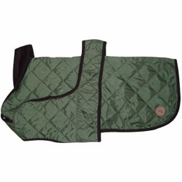 Quilted Dog Coat Green 35cm