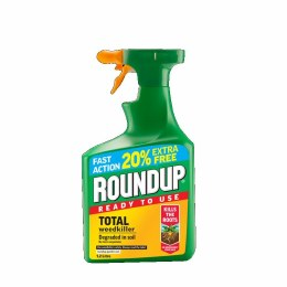 Roundup Total Ready To Use Weedkiller 1 Litre Plus 20% Free