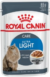 Royal Canin Ultra Light in Gravy Cat Food Pouch - 85g