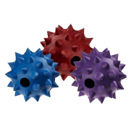 Rubber Spike Ball with Bell Medium 9cm