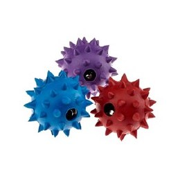 Rubber Spike Ball with Bell Small 5cm