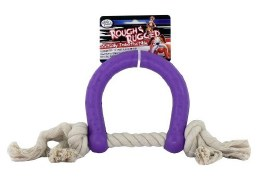 Ruff & Rugged Horseshoe with Rope Purple
