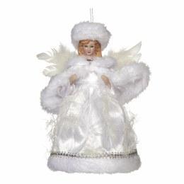 Christmas Tree Topper Porcelain Angel White 20cm