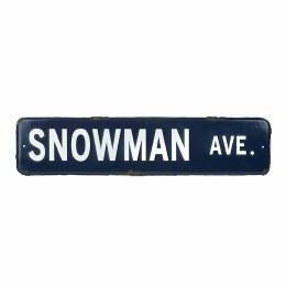 Christmas Sign ' Snowman Ave' 56x13cm