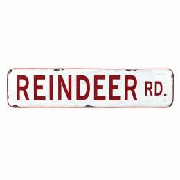 Christmas Sign ' Reindeer Rd' 56x13cm