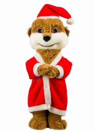 Santa Meercat Dog Toy