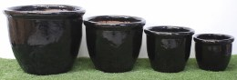 Selma Black Terracotta Pot 52 X 42cm