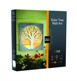 Solar Silhouette Tree Wall Light