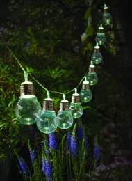 Solar 10 Clear Bulb String Lights