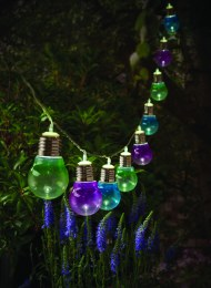 Solar 10 Colour Bulb String Lights