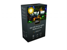 Solar Battery Powered Lights 100 LED String Lights - Multicoloured