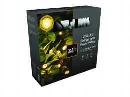 Solar Battery Powered Christmas Lights 50 LED String Lights - Warm White