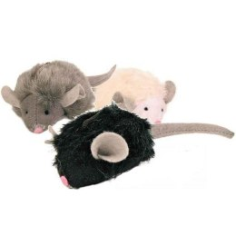 Squeaky Plush Mice 6x12cm