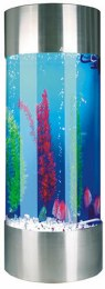 Column Acrylic Tank Stainless Steel