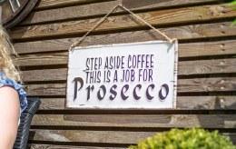 "La Hacienda Embossed Steel Sign "" Step aside Coffee..."""