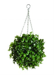 Artificial Topiary White Flower Effect
