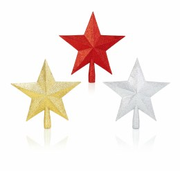 Christmas Tree Topper Star with Glitter 25cm