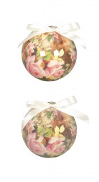 Christmas Bauble Vintage Rose 7.5cm