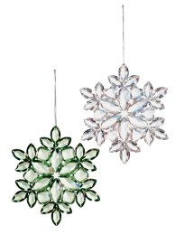 Christmas Acrylic Snowflake Decoration 12cm