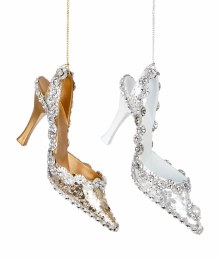 Christmas Glitter Shoe Hanging Decoration 13cm