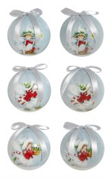 Christmas Bauble Fairy with Berries 7.5cm