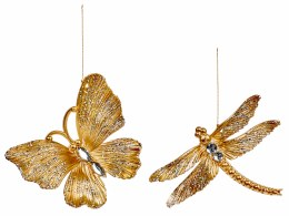 Christmas Decoration Butterfly Gold 10cm